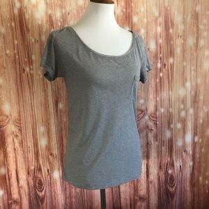 American Eagle Gray Feather Light T Shirt